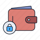 cash, lock, money, payment, purse, secure, wallet icon