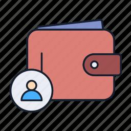cash, money, payment, purse, user, wallet icon