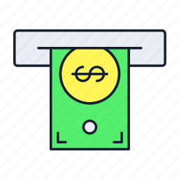 atm, cash, cashout, machine, payment, transaction, withdrawal icon