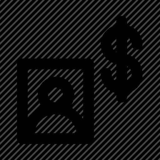Account, cash, dollar, money, profile icon - Download on Iconfinder