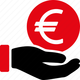 bank, business, cash, euro, finance, money, payment icon