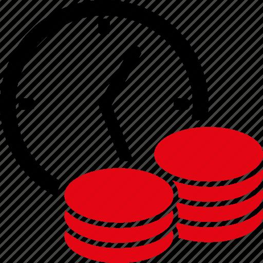 deposit, gain, income, money, percent, profit, reccurent payment icon