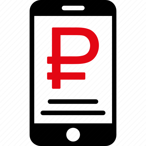 currency, mobile, money, payment, phone, rouble, russian icon