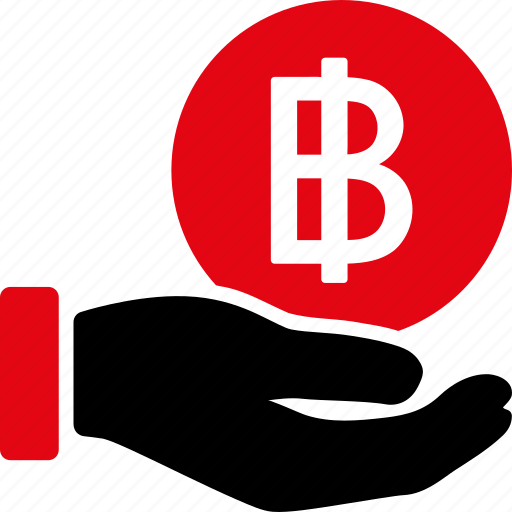 bitcoin, cash, coin, pay, payment, salary, thai baht icon