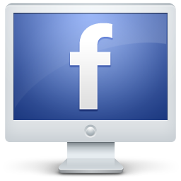 computer, facebook, monitor, screen icon
