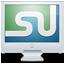 monitor, screen, stumbleupon icon