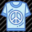 clothes, peace, shirt, tshirt icon