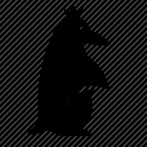 animal, crown, head, penguin, royal icon
