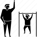 best father, father and son workout, fatherhood, loving father, paternity icon