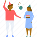 anniversary greetings, anniversary wishes, celebrations, couple with balloons, happy wedding anniversary icon