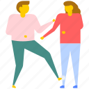 conflict between couple, couple fight, domestic violence, fighting between husband and wife, quarreling husband and wife icon
