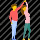 culture dance, dance, dance performance, dancing couple, tea dance icon