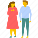 friends walking, friendship, happy moments, lover walking, relationship icon