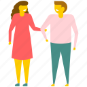 friends, friendship, lovers, lovers holding hands, romantic couple icon