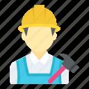 builder, carpenter, handyman, handyperson, handyworker icon