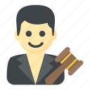 arbitration, attorney, judge, magistrate, prosecutor icon