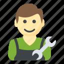 engineer, handyman, man mechanic, repair, technician icon