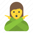 gesticulate, gesturing, prohibition, sign language, woman gesturing no icon