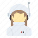 astronaut, cosmonaut, space pilot, space traveller, space woman icon