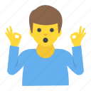 gesticulate, sign language, agree, man gesturing ok, gesturing icon