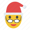 character, christmas, emoticon, mrs claus, xmas icon