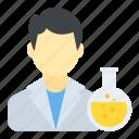 chemist, lab assistant, lab research, lab technician, man scientist icon