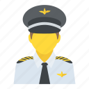 aircraft pilot, aircrew, airman, captain, pilot icon