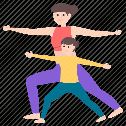 athletes, fitness, gymnastics, stretching exercise, workout, yoga icon