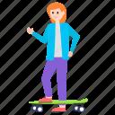 adventure, roller skates, skateboarder, skateboarding, skates icon
