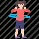 athlete, dance, exercise, fitness, fun, gymnast, hula hoop icon