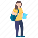 internee, pupil, schoolgirl, student, undergraduate icon