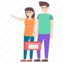 couple picnic, dating couple, married couple, outdoor activity, spouse icon
