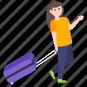 adventurer, tourist, traveller, tripper, visitor icon