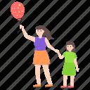 balloon girls, cute girls, entertainment, friends, fun activity, joy icon