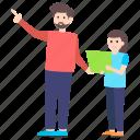 educator, instructor, male teacher, mentor, teacher icon