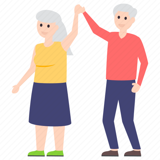 couple dance, elderly, old citizens, old people, older couple, senior citizens icon