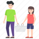 amusement, fun, outdoor meal, outing, park, picnic icon