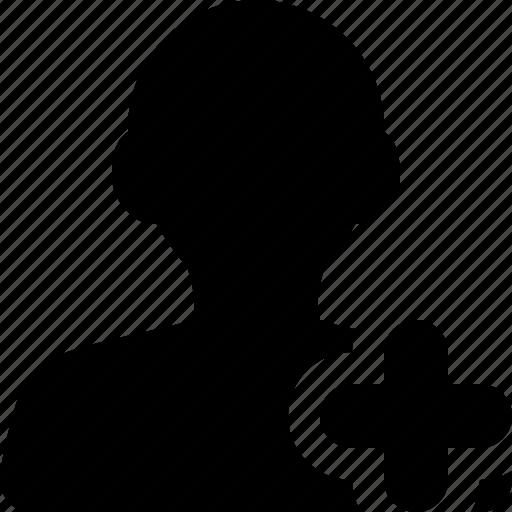 add, female, plus, profile, user, woman icon
