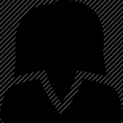 account, avatar, casual, female, profile, user, woman icon