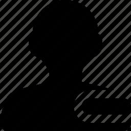 female, minus, profile, remove, user, woman icon