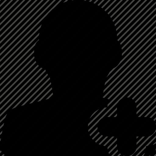 add, male, man, plus, profile, user icon