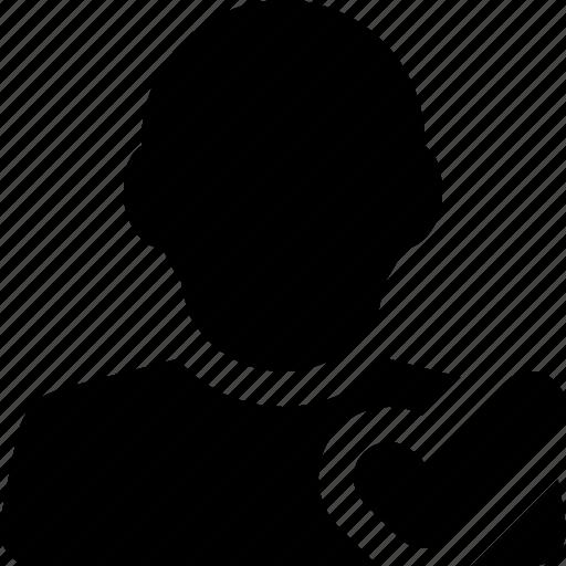 accept, checkmark, follow, male, man, ok, profile, user icon