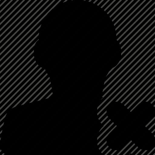 delete, male, man, profile, unfollow, user icon