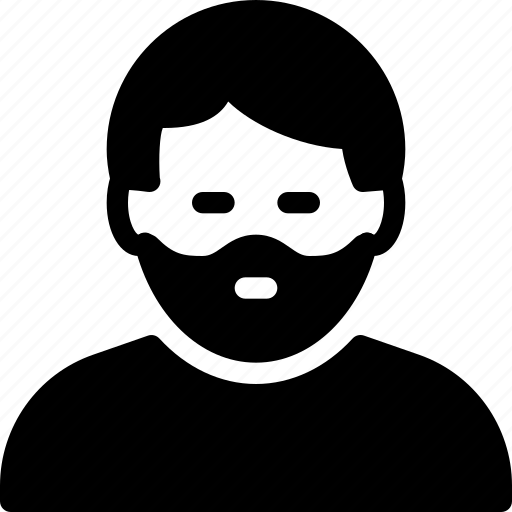 beard, man, people, person, user icon