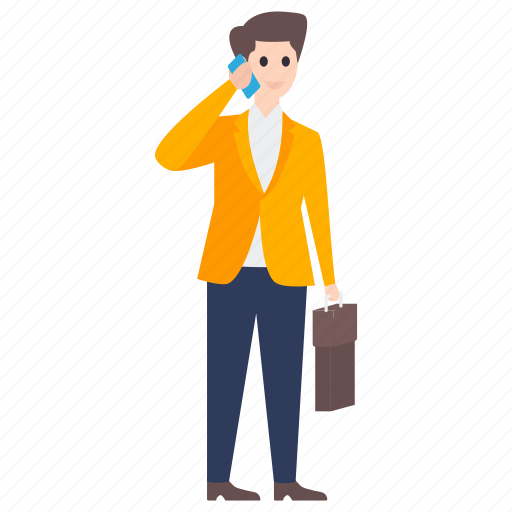 business talk, businessman, call kalking, mobile call, phone communication, telecommunication icon