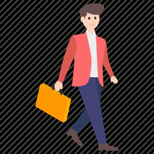 businessman, businessperson, employer, male employee, office employee icon