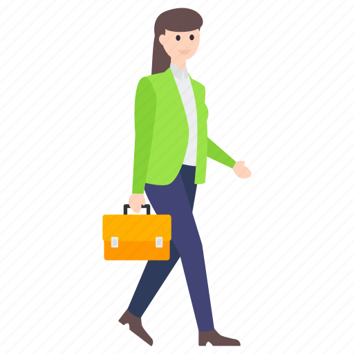 businessperson, businesswoman, employer, female employee, office employee icon