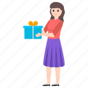 gift box, giving gift, present, present box, surprise icon