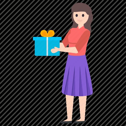 gift box, giving gift, present, present box, surprise icon