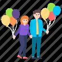 couple celebration, dating, love couple, party couple, relationship, spouse icon